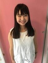 ヘアメイク オブジェ(hair make objet)ぱっつんロング