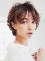 アース 八王子店(HAIR&MAKE EARTH)ふんわりひし形無造作カールショート