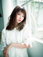 美容室ソラ 小岩店(sora)ショートバングが可愛い☆くせ毛風ナチュラルミディ【小岩】