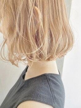 アナ ラーナ(Anna Lanna)の写真/ダメージケアも色落ちも考えたハイレベルなカラーだからハイトーンカラーもずっときれいな髪に☆[表参道]