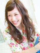エルメ なんばマルイ(HELME)ミルクティカラー☆クラシカル波ウェーブ☆モードロングスタイル
