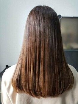 ヘアーレイズ(Hair Raise)の写真/【自然な縮毛矯正*】まっすぐになりすぎないナチュラルな仕上がり♪ふんわり感とやわらかい手触りが◎