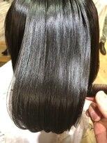 ナナナパレナ 心斎橋店(nanana parena)圧倒的な艶!縮毛矯正で髪質改善艶髪ストレートボブ!