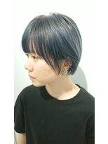 ヘアーリゾートラシックアールプラス(hair resort lachiq R+)《R+》透明感デニムカラー☆ショート