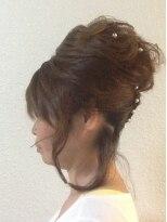 盛り髪(盛りヘア)のセミロングアップ♪画像