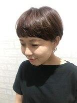 ジーナシンジュク(Zina SHINJYUKU)マッシュショート+パープルブラウン