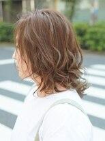 ヘアー ライズ(hair RISE)グリーンベージュハイライトクールパーマ