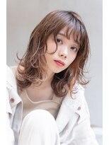 【LANY 横浜】外ハネレイヤー×オレンジベージュ