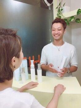 ヘアメイク イチゾー 高野店(Hair Make ICHIZO)の写真/サロンケアも大事だけど毎日のケアが美髪の秘訣!ライフスタイルや髪質に合ったホームケアの提案が嬉しい◎