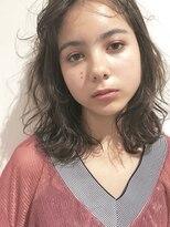 ビジョンアオヤマ (VISION aoyama)【VISION】クセ毛風ミディ*カーキグレージュ