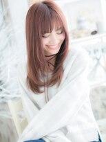 ★ ガーリーピンク★小顔カジュアルロング★2