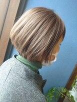 《Kubu hair》大人のグレーボブ