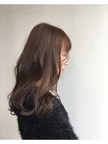 ヘアメイク オブジェ(hair make objet)パープルベージュ ロング KAI