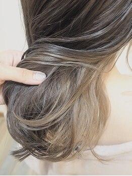 ヘアーアンドコークラシコ(Hair&Co. Clasico)の写真/【倉敷/中庄/キッズスペースあり】デザインカラーならお任せください♪お客様に似合う×トレンドをご提案*