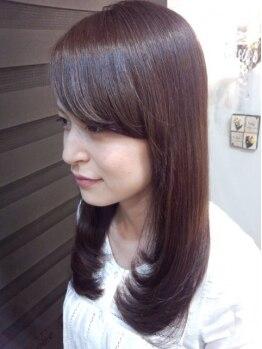 エムズヘアー(M'z hair)の写真/≪選べるハーブカラー&香草カラー♪≫低刺激&ダメージレスな薬剤を使用!上品な色味で抜群のハリツヤに◎