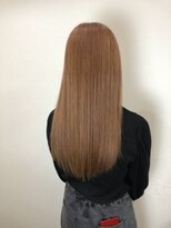 キャラ 池袋本店(CHARA)春人気カラーくすみピンク・ロングヘア【髪質改善/インナー】