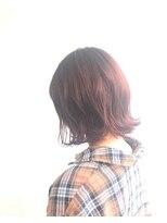 ヘアメイク オブジェ(hair make objet)pinkブラウン ボブ