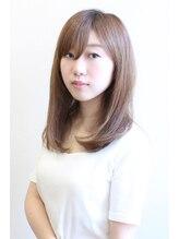 オーブ ヘアアンドメイク(AUBE hair&make)大人前髪×ナチュラルストレート