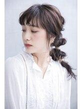 バッテリー ヘアアンドメイク 御幣島店(Battery hair&make)編みおろしスタイル