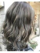 ヴィークス ヘア(vicus hair)【vicus hair×井上】カーキグレー×ハイライト