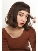 レックスヘアーインターナショナル(REX HAIR INTERNATIONAL)【REX 心斎橋】  切りっぱなしボブ×オン眉