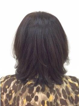 プラザ 郡山店(PLAZA)の写真/【暗くなりがちな白髪染めも明るく染まる♪】今まで以上に美しいツヤ髪に出会えます☆