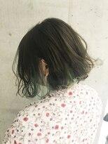 アヴァンスクロス あべのルシアス店(AVANCE.CROSS)インナーカラー×ダブルグリーン