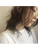 ケーオーエス(KOS beauty hair, nail & eyelash)ナチュラルブラウンカラー×ゆるパーマ