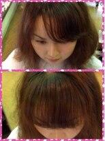 フィールモード ワイアールピー 野比駅前店(FEEl MODE YRP)前髪重ためヘアリセッターカット