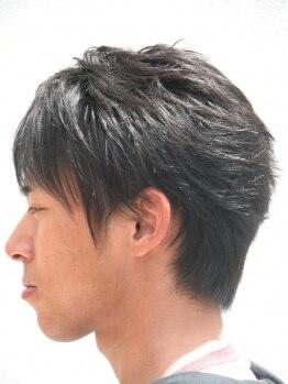 カットイン マユミ(MAYUMI)の写真/セットの仕方次第で印象を変えられるメンズスタイルを提案します☆ONとOFFを使い分けてオシャレを楽しんで!