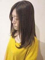 テラスヘア(TERRACE hair)ナチュラルミディアムヘア × アッシュベージュ