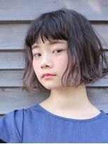 インナーカラー シースルーバング ボブ2【代官山 Door 赤間】