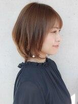 ★30代40代50代イメチェンラベンダーカラー前髪丸みショート