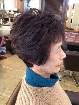 美容室 シャルドンの写真/「マニキュア(根本)+カット¥8800~」【頭皮】と【髪の毛】を傷めずにグレイカラーを楽しめます!
