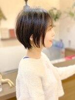 【morio池袋】黒髪大人かわいい秋冬人気大人ショートボブ耳かけ