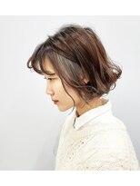 エイム ヘアメイク 横川店(eim HAIR MAKE)切りっぱなし×インナーベージュ