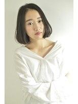 ボヌール 西梅田店(Bonheur)【女性stylist杉崎】上品シンプルな大人ボブ
