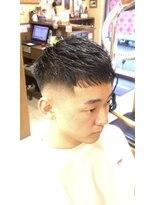 オムヘアーフォー(HOMME HAIR 4)クロップスタイルから伸びたスタイル。HOMMEHAIR4 岡崎