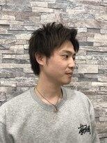 バーバーサロン カズヘア(BARBER SALON KAZU HAIR)アップバングショート
