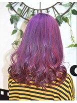 ヘアーサロン エール 原宿(hair salon ailes)(ailes原宿)style333  デザインカラー☆パープル×ピンク