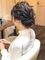 ハロ (Halo hair design)ミディアムでもできる★クラシカルアップスタイル