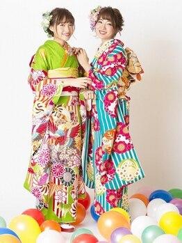 シェリ(Cheri)の写真/【お電話にてご予約受付中!!】早朝もOK★結婚式のヘアセット&着付け&メイクはcheriにおまかせ♪