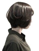 フレイムスヘアデザイン(FRAMES hair design)愛されショートボブ×ダークグレージュ