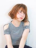 エトネ ヘアーサロン 仙台駅前(eTONe hair salon)【eTONe】ベージュショートボブ