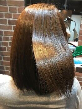 ベックス(BEX)の写真/BEXオリジナル髪質改善トリートメントで柔らかサラサラに♪毛髪補修トリートメントでしっとりなめらかに♪