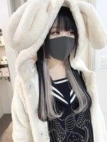 BABE megumi インナーカラー×姫カット