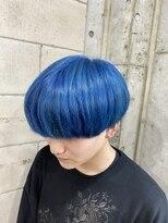 ブルー×エメラルドブルー×ネイビーブルー