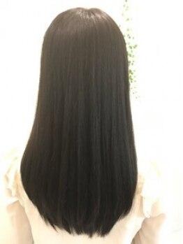 """ググヘアー(guguhair)の写真/""""gugu""""のストレートは、思わず触りたくなる質感☆施術すればするほど美髪☆ストレートヘアに…"""