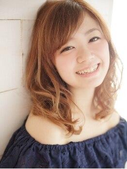 ケサリサリヘアスマイル(Ksarisari hair SMILE)の写真/【西宮】かわいい魔法のパーマでスタイルチェンジ♪ふわくしゅ柔らかパーマで愛されウェーブstyleが完成♪