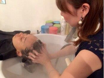 ルスィエル(le ciel)の写真/美しい髪は、健康な頭皮から☆フルフラットベッドで至福の時間を…美のプロが癒しのひとときをお約束☆